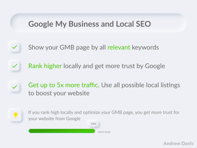 Get Google My Business and Local SEO optimization