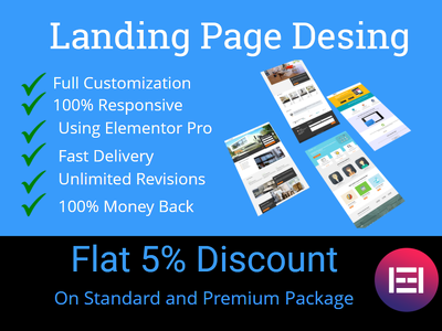 Design responsive wordpress landing page with elementor pro