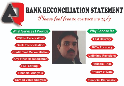 Convert Bank Statements and Edit, Modify & PDF to Excel
