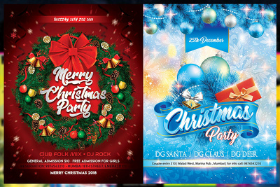 Design Christmas leaflet/poster with tarot card reading complime