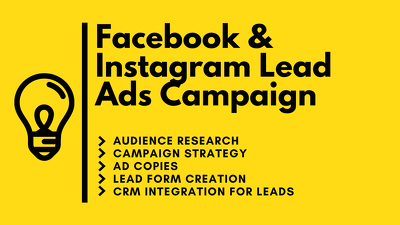Create Facebook and Instagram Leads Generation Ads Campaign