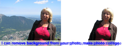 Remove background from your pictures and make photo collage