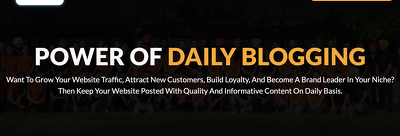 Boost your website with daily blogging