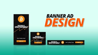 Design banner for any website, social media or for printing