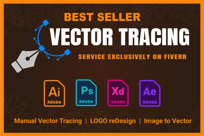 Vectorize, Redraw Your Logo Or Image Into Vector or anything