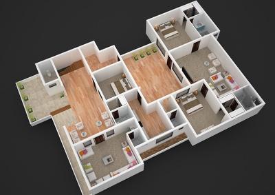 Create professional 3D floor plan / interior design