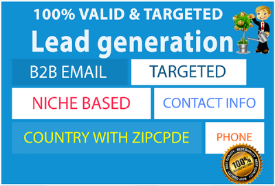 Collect targeted 100 B2B Leads on any niche with location