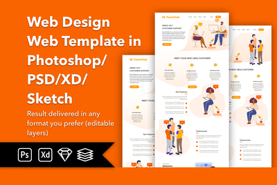 Design Creative, Modern, Professional Website Landing Page PSD