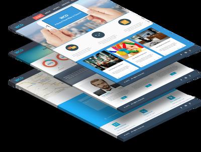 Create a modern landing page, wordpress website, blog site