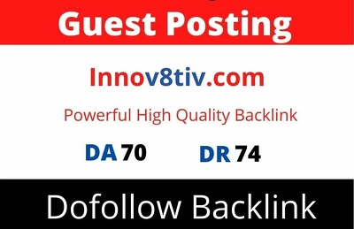 Publish Guest Post on Innov8tiv, Innov8tiv.com with Backlink