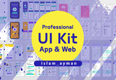 I will send you more than 2000 professional UI kit screens