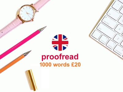 Proofread any ENGLISH TEXT