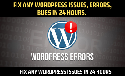 Fix WordPress issues, Errors, Bugs, Within 24 Hour