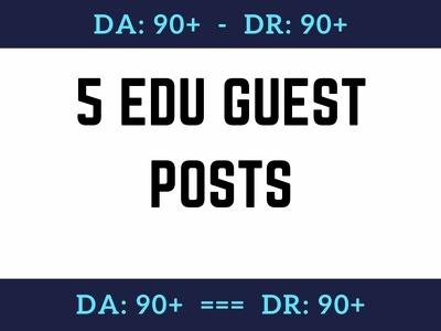 Publish 5 Edu Guest Post on Top Universities, Dofollow Backlink