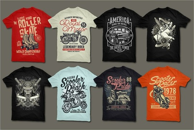 Do amazing tshirts design bundle in all the niches
