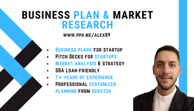 Professionally design business plan and market research