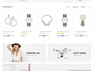 Responsive Ecommerce Website Online Store with opencart