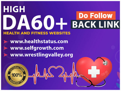 I will do 3 health and fitness guest post with dofollow backlink
