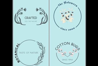 Create a feminine hand drawn botanical logo for you 0 0 0