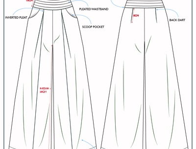 Create fashion design tech pack INCL GRADING