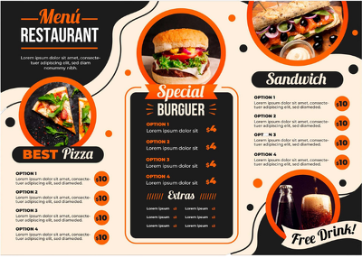 Design modern menu for restaurants