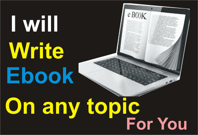 Write a non fiction E-book for you