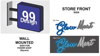 Design any type of Exterior / Interior Signage Design,