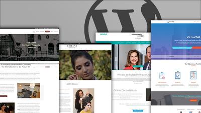 Build a modern & responsive WordPress website