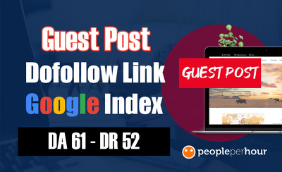 Guest post on da 61 site with dofollow link, google indexed