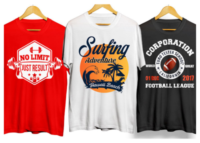 Create T-shirt designs and custom T-shirt designs for print