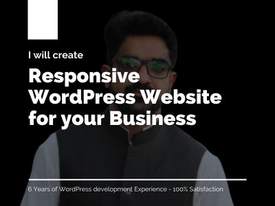Develop Responsive WordPress website for Business