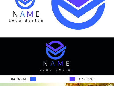 Design professional logo with based on principle