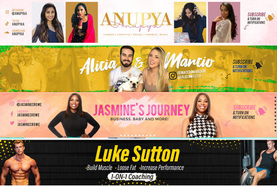 Design superb youtube channel art banner