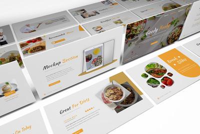 Design branded Powerpoint presentation