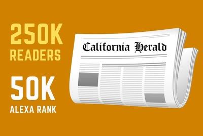 Guest post on California Herald - californiaherald.com