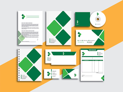 Professional business card stationery or brand identity design