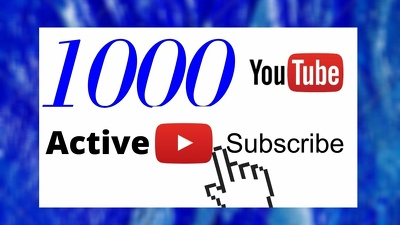 Promote organic YouTube Channel and grow 1000 Subscribers