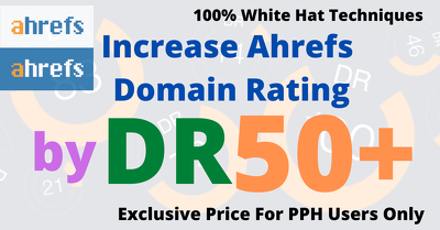 Increase your website Domain Rating (DR)
