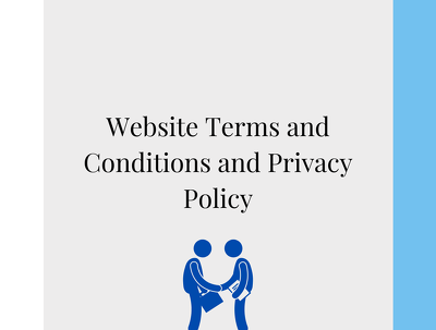 Draft your website terms and conditions and privacy policy