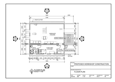 Create architectural workshop drawings in AutoCAD.