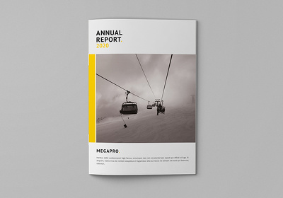Design pages a Annual Report and Brochure