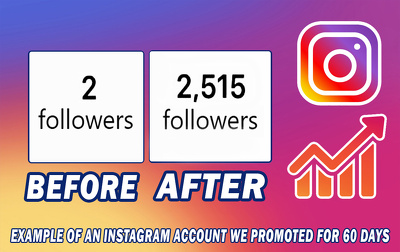 Professionally promote your Instagram account