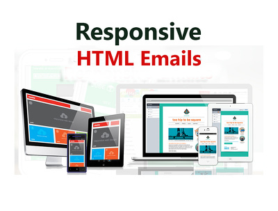 A fully responsive HTML custom email template or newsletter