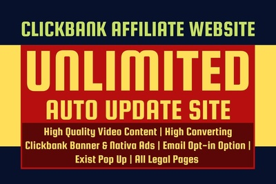 Create Best  Selling Clickbank Affiliate Site For Passive Income