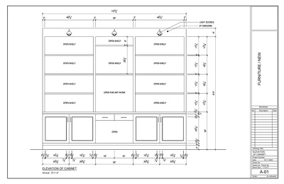 Create cabinet & furniture elevations drawings in AutoCAD