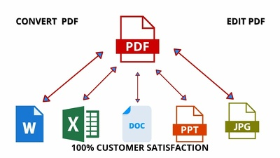 Convert 100 Document To PDf In 24 Hours