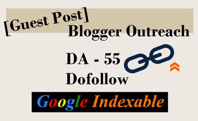 Publish SEO Guest Post on DA 55 dofollow site