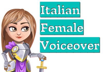 Record Italian female voice over