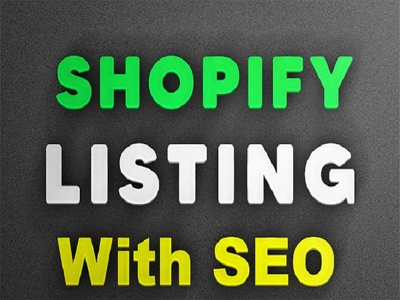 Write 50 Shopify Products Descriptions, Title, Tags and seo