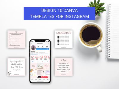 Design 10 Canva Templates for Instagram that you can reuse